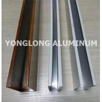 Quality Mechanical Strength Aluminum Curtain Wall Profile Extrusions Rectangle Shape for sale
