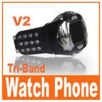 Quality V2 - CE passed watch mobile phone for sale