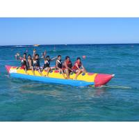 Single Lane For 8 Person Inflatable Banana Boat For Water Exciting Games