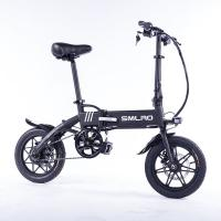 China Black Lightweight Foldable Electric Bike Pedals Power Assist 14 Inch Wheels on sale
