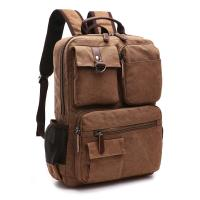 Canvas Multi Pockets Heavy Duty Book Bags For Teenagers Outdoor Sports