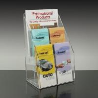 China Clear Acrylic Display Shelves plastic stand holder for leaflets, brochures merchandise on sale