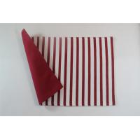 Quality 100% Cotton Stripe Canvas 250gsm One Side Printed Color One Side Solid Color Dining Table Mats for sale