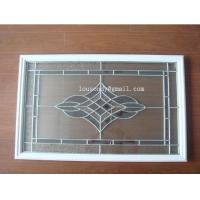 Quality triple  glass panel with  frame in door for sale