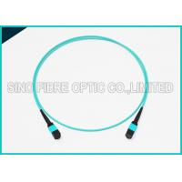 Buy 100Gbps 24 Cores MPO Fiber Optic Cable OM4 Non-pinned Fibre Optical Plenum at wholesale prices