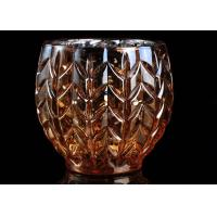 Quality Sliver Electroplating Color Bowl Glass Tealight Candle Holder Votive Soy Wax for sale