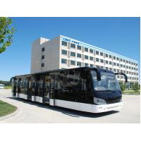 Buy 14M length 3m width luxury airport shuttles 110 passenger standing area at wholesale prices