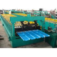 Buy PLC Control Roof / Wall Panel Color Steel Plate Roll Forming Machinery CE Approved at wholesale prices