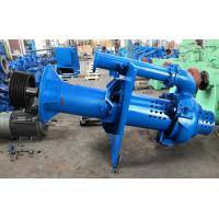 China Open Pit Vertical Submersible Slurry Pump High Chrome A49 Blue Color RAL5015 on sale