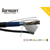 Quality Outdoor CAT5E PVC+PE Cable With Messenger And Jelly FTP 24AWG  Bare Copper for sale