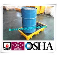 Quality Steel Spill Decks Containment Pallets 2 Drums / 4 Drums Removable With Drain for sale