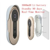 Quality 3.6mm Lens WIFI Video Doorbell Real Time Remote Smart Doorphone Build In Battery for sale