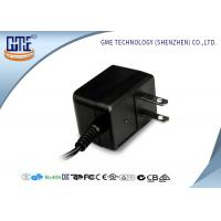 Quality Black CE/GS EU Plug 3-10w Ac Dc Switching Power Supply With 1.5m DC Cable for sale