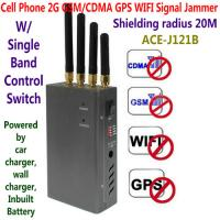 Quality 4 Antenna Handheld Cell Phone 2G GSM GPS WIFI Signal Jammer Blocker W/ Single Band Switch for sale
