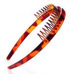 Quality Wholesale 2~3cm plastic hair bands black&brown color hair ornament for sale