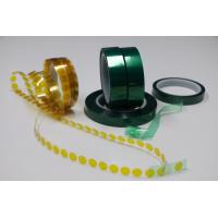 China Jumbo roll Green Polyester silicone adhesive tape for sale