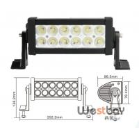 """Quality 7.5"""" 36W ip67 offroad driving led light bar,10-30V double rows led bar for sale"""
