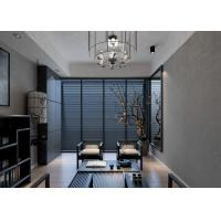 Quality Removable Vinyl Contemporary Wall Coverings with Grey Leaf Pattern For Study Room for sale