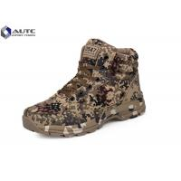 Quality Rubber Military Tactical Shoes , Military Desert Boots US Woodland Air Mesh Fabric for sale