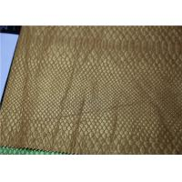Buy Pearlied Gold Fake Leather Fabric Classic Snake Skin Pattern Fire - Retardant at wholesale prices