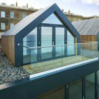 Buy cheap Modern roof terrace railing design photo aluminum glass u channel balcony balustrade price from wholesalers