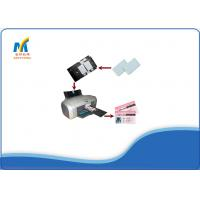 Buy White Blank Plastic Inkjet Printable PVC Cards Glossy / Matte Surface 0.76mm at wholesale prices