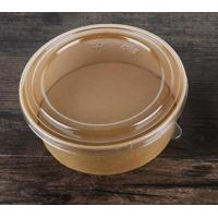 Quality Eco - Friendly Biodegradable Kraft Paper Bowls For Salad Match With Lids for sale