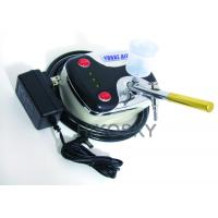 Quality Mobile Gravity Feed Airbrush Tanning Kit Machine with Oil Free Compressor and Gun 30PSI for sale