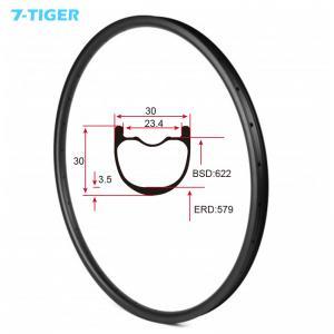 Quality 7-tiger NEW 30 x 30 mm Width Carbon Fiber 29er Mountain Bike Clincher Rim Tubeless Compatible ud matte for sale