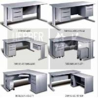 Quality Metal Office Rectanular Tables (L-Leg) for sale