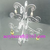 China Elegant Transparent Tree Shape Acrylic Display Rack For Earring on sale