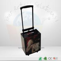 Quality Glossy Lamination Cardboard Trolley With Handle And Wheels For Exhibition Promotional for sale