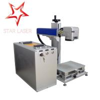 Quality Blue 10W Fiber Laser Marking Machine , Pipe Laser Marking Engraving Machine for sale
