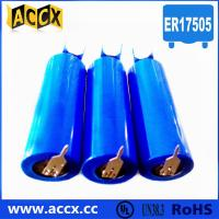 Quality 3.6v lithium battery ER17505 3500mAh with two pins for sale
