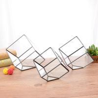 China Indoor Gardening Geometric Glass Terrarium Container Succulent Planter for sale