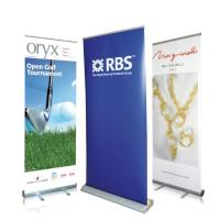 Quality Waterproof Roll Up Banner Display Dye Sublimation Full Color Printing Reusable for sale