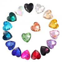 Quality Point Back Love Heart Shaped Glass Glue On Rhinestones Bling Sparkling Embellishments Furniture Clothing Accessories for sale