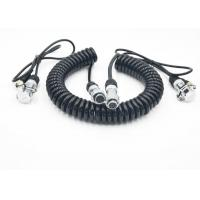 Quality Flexible Coiled Power Cord Trailer CCTV Camera Cable For Electronics for sale