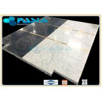 Quality Water Jet Cut / Jointed Pattern Marble Honeycomb Stone Panels Mosaic Tile for sale