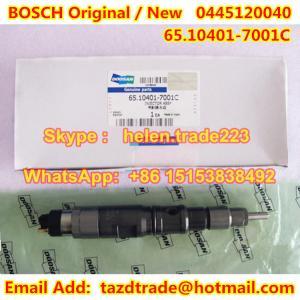 Quality BOSCH Original Injector 0445120040 /65.10401-7001C /65104017001C for DAEWOO DOOSAN for sale