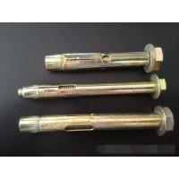 Quality Heavy Duty Sleeve Anchor Bolts Yellow Galvanized Painted ISO 9001 Approved for sale