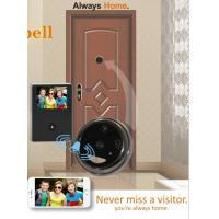 Quality Aluminium Alloy WiFi Video Doorbell With Peephole , 120 Degree Wide Angle for sale