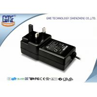 Quality Black Wall Mounted 12V Power Adapter 1.5M Cable 3 Prong Plug With CE Certificates for sale