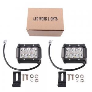 Quality 4.5 Inch 18 W Mini Car Light Bar , Double Row 4x4 LED Light Bar For Trucks for sale
