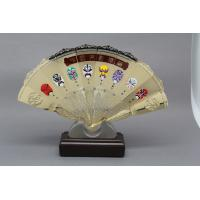 Quality Customised Metal Gold Silver Metal Folding Hand Fan  Prize Chinese Traditonal Souvenir Support for sale