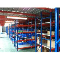 Quality High Capacity Durable Medium Duty Shelving With Step - Beams / Steel Laminates / Wood for sale