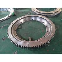 China VLA200844N turntable bearing  838.1x634x56mm with external gear and ring with flange on sale