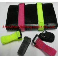 Different size removable hook and loop closure cable ties for sale