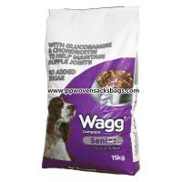 Quality Woven Polypropylene Animal Feed Bags , Reusable Eco-friendly Dog Feed Packaging Bag for sale
