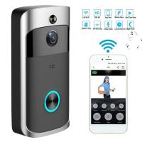 Quality HD Wifi Enabled Wireless Doorbell Camera , Battery Operated Smart Camera Security for sale